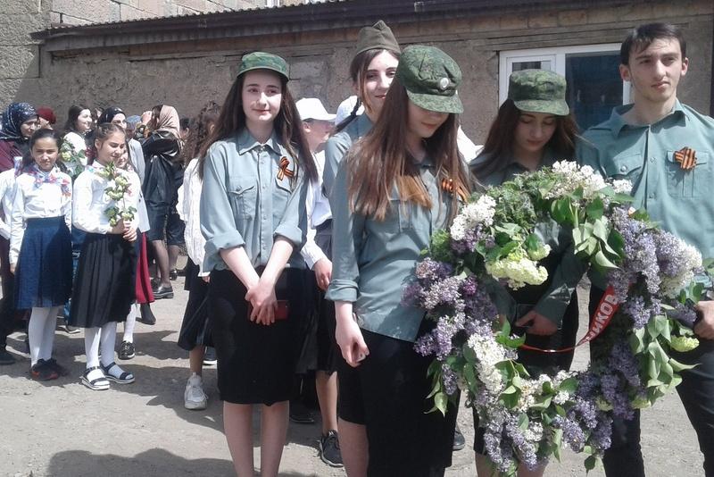 В Курахском районе отметили 76-летие со дня победы в Великой Отечественной войне