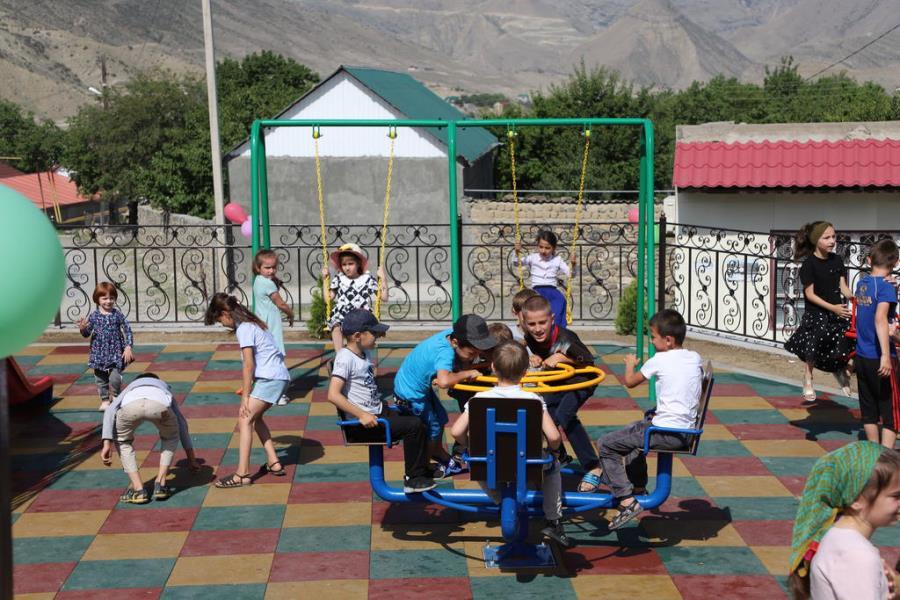 В селе Алак Ботлихского района благоустроена общественная территория