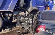 В столкновении «Лады» и КамАЗа в Дербентском районе погибли два человека