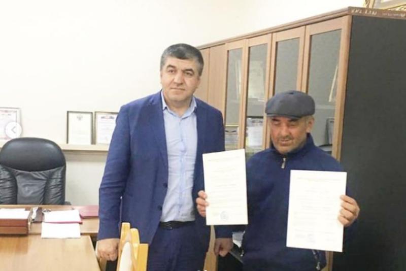 Ветерану афганской войны в селе Леваши вручили сертификат на покупку жилья