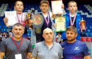Кайтагские спортсмены стали победителями первенства по вольной борьбе в Хасавюрте