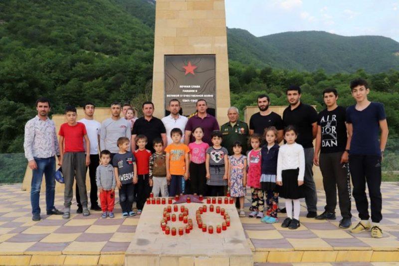 В Табасаранском районе зажгли «Свечу памяти»