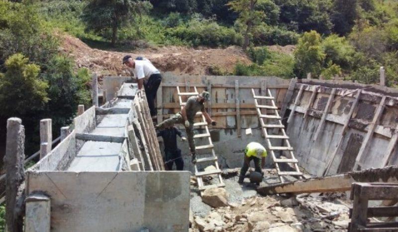 В Табасаранском районе строят мост через реку Ханаг-чай