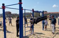 Новую спортивную площадку открыли на пляже в Избербаше