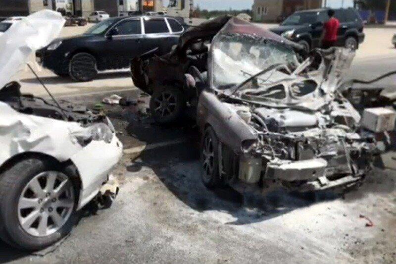 Двойное столкновение машин на трассе «Кавказ» стоило жизни женщине из Дюбека