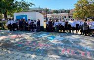 В Кайтагском районе прошел конкурс рисунков на асфальте «Мы за мир на планете!»