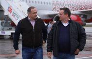 В аэропорту Махачкалы Сергей Меликов и Андрей Никитин ответили на вопросы журналистов
