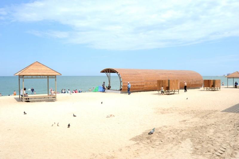 В Махачкале завершена реконструкция городского пляжа