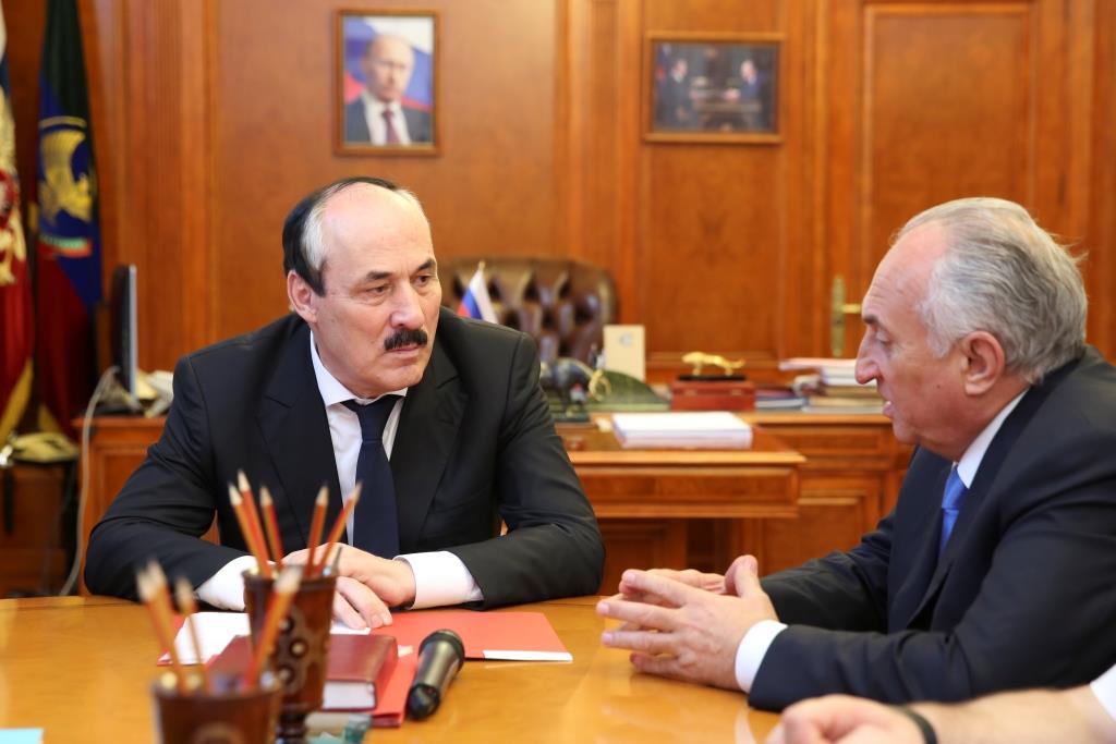 Рамазан Абдулатипов провел встречу с президентом ООО «Федерация дзюдо России»