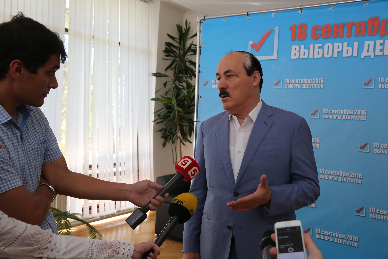 Рамазан Абдулатипов посетил ситуационный центр в Единый день голосования
