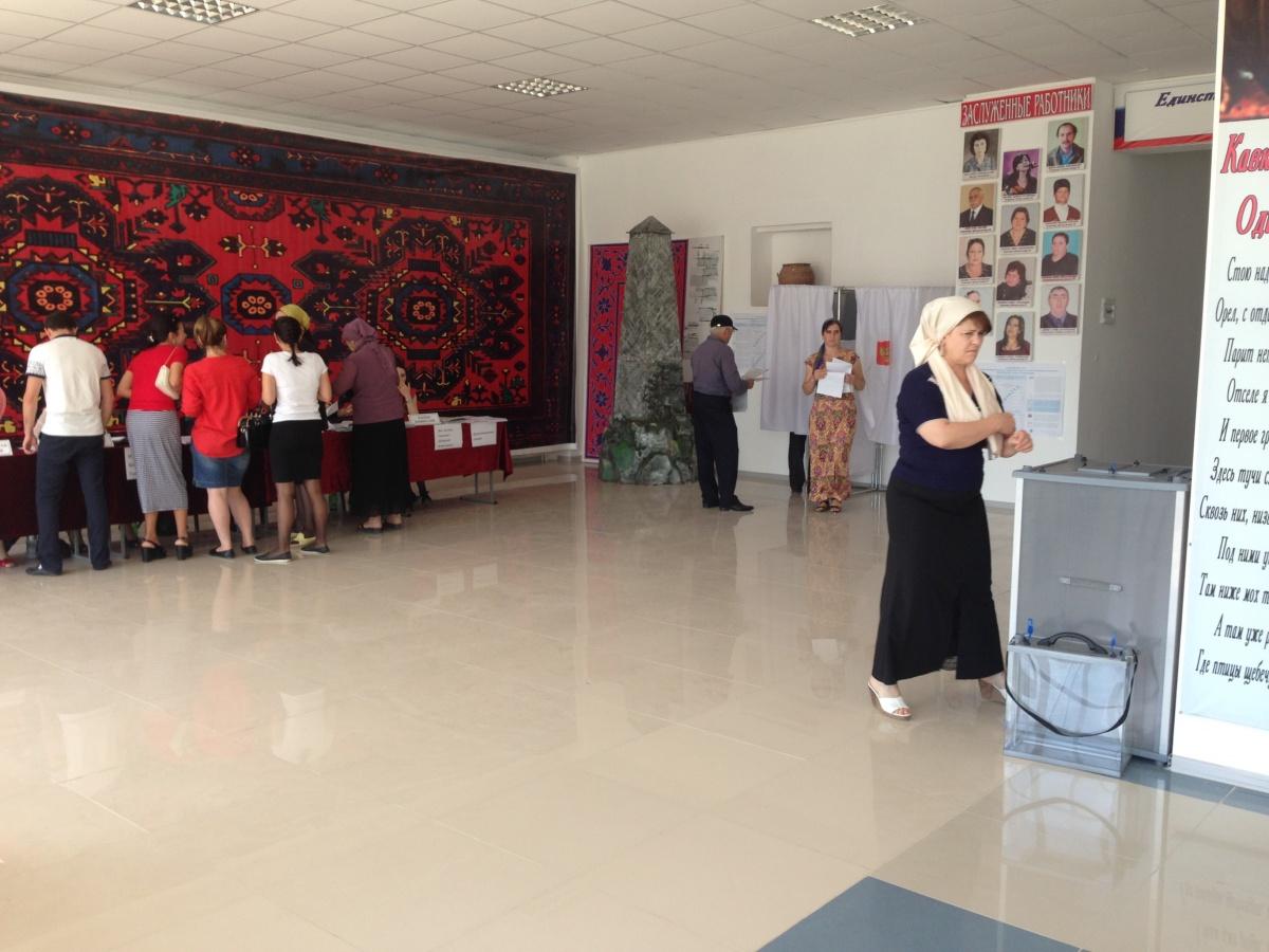 В Единый день голосования 25 избирательных участков Бабаюртовского района слаженно начали свою работу