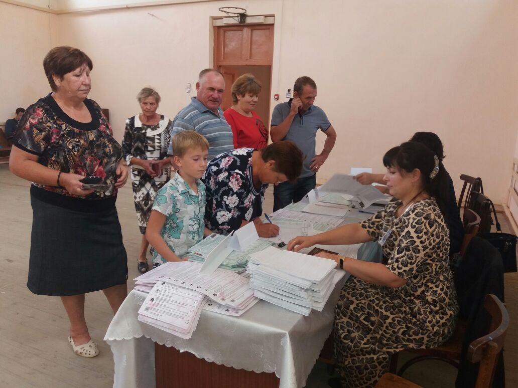 Голосование в Тарумовском районе