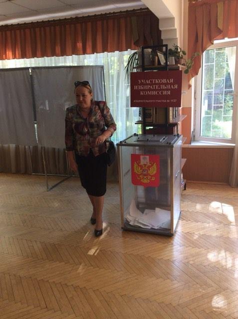 Татьяна Гамалей приняла участие в выборах