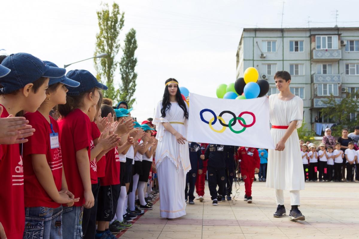 Кировский район встречал детскую Олимпиаду