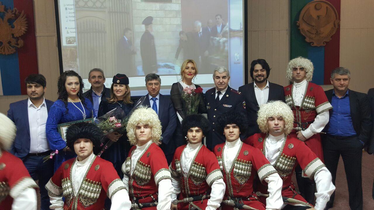 Ансамбль «Лезгинка» поздравил работников внутренних дел республики с профессиональным праздником