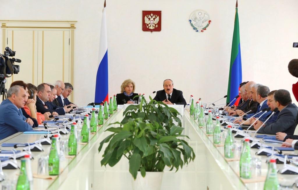 С участием Главы Дагестана в г.Махачкале обсуждены перспективы развития института уполномоченных по правам человека