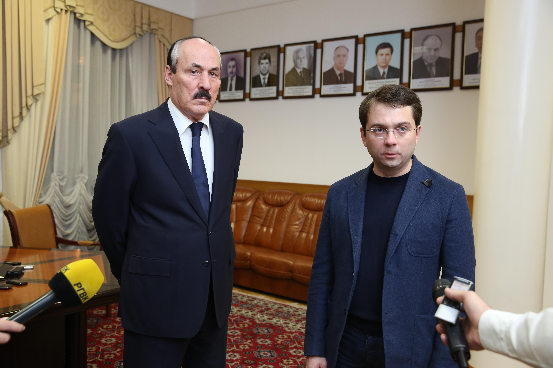 Глава Дагестана и заместитель министра строительства и ЖКХ РФ ответили на вопросы журналистов
