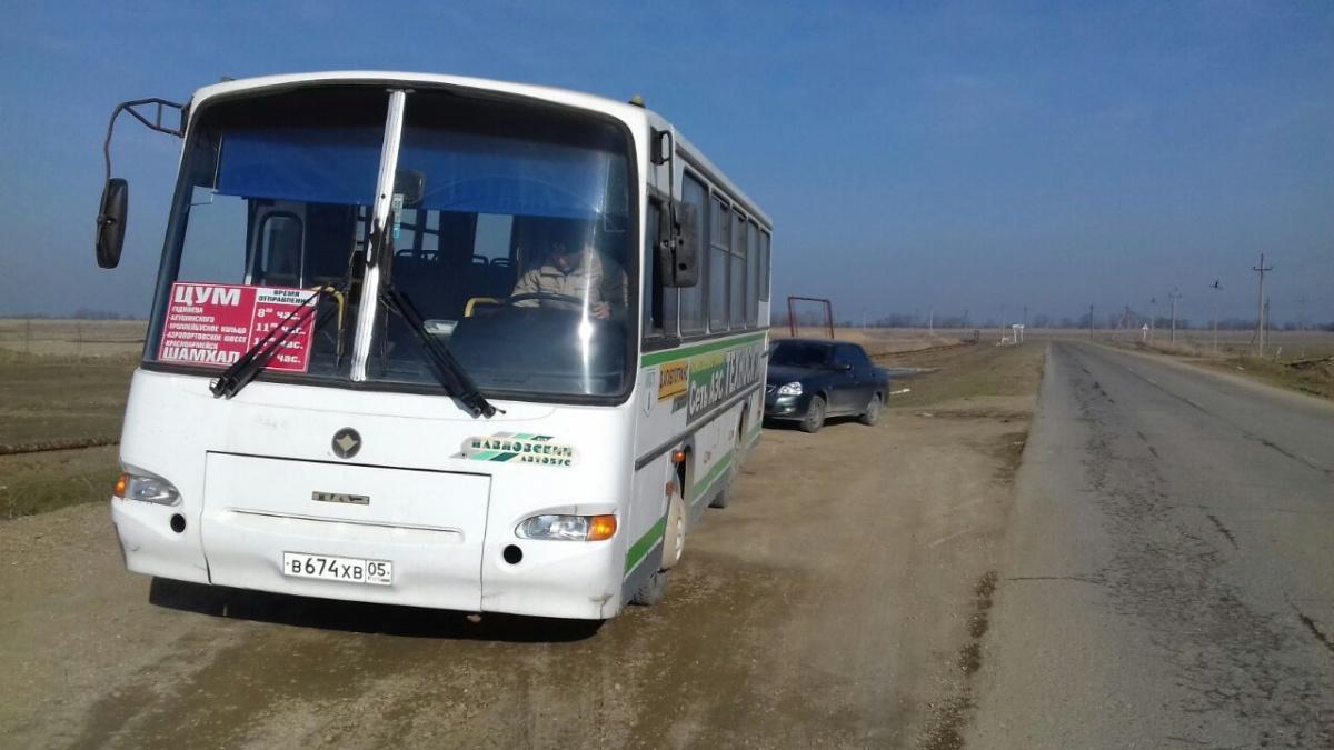 В Кировском районе новый автобус связал Шамхал с центром Махачкалы