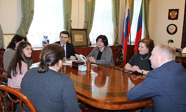 В Постпредстве состоялась встреча с конкурсанткой «Голос Дети» А.Абасовой