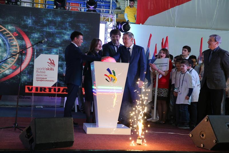 Абдусамад Гамидов принял участие в торжественном открытии чемпионата «Молодые профессионалы» WorldSkills Russia