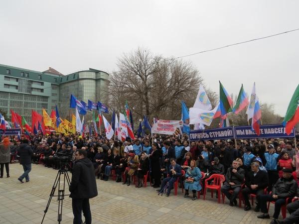 Дагестан отметил третью годовщину воссоединения Крыма митингом-концертом
