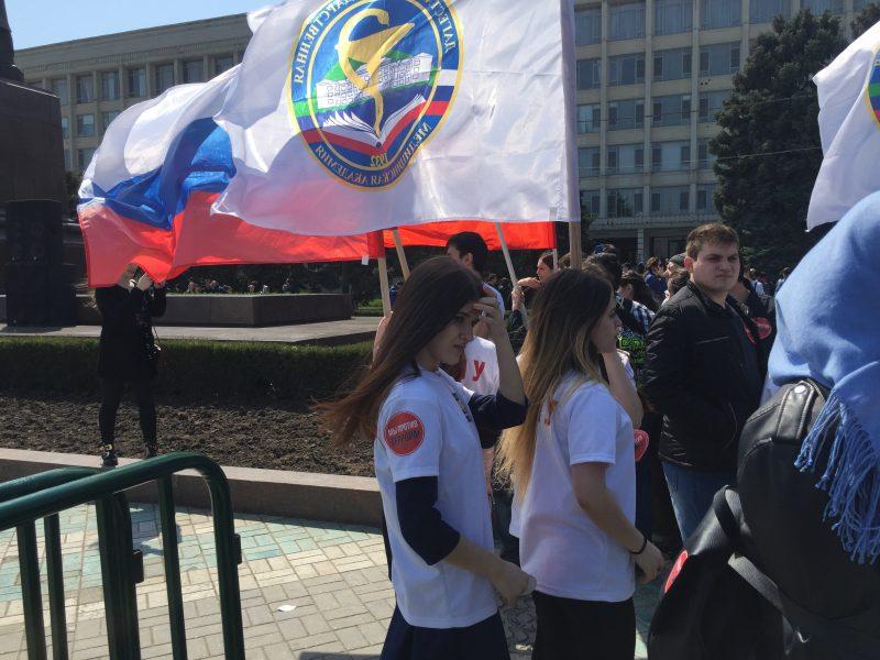 Антитеррористический митинг вМахачкале собрал 7 тыс человек