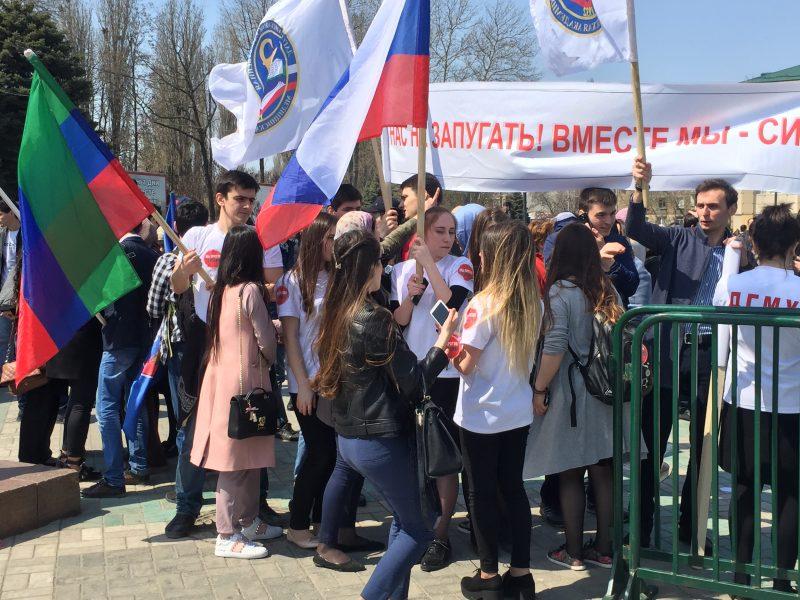 Руководитель РДпринял участие вмитинге «Дагестан против террора»