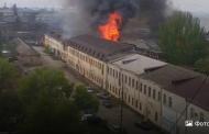 Пожар на складах рыбо-консервного завода в Махачкале локализован