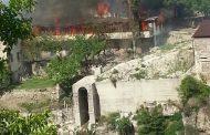 В Хунзахском районе сгорело здание сельской администрации
