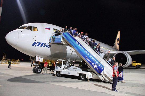 В аэропорту Махачкалы приземлился первый широкофюзеляжный самолет