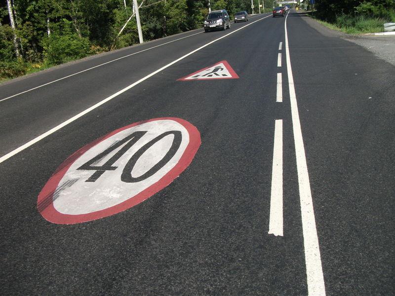 В Дагестане дорожные знаки нанесут на асфальт