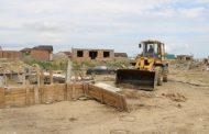 На побережье озера Ак-Гель снесли самовольные постройки
