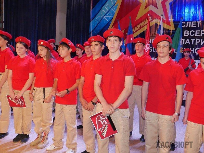 Более 190 молодых ребят вступили в ряды «Юнармии» в Хасавюрте