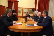 Владимир Васильев встретился с епископом Варлаамом и главой совета иудейских общин Дагестана