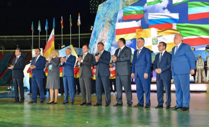 Анатолий Карибов посетил церемонию открытия Фестиваля народов культуры и спорта во Владикавказе