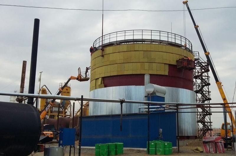 В пригороде Махачкалы строят битумное хранилище