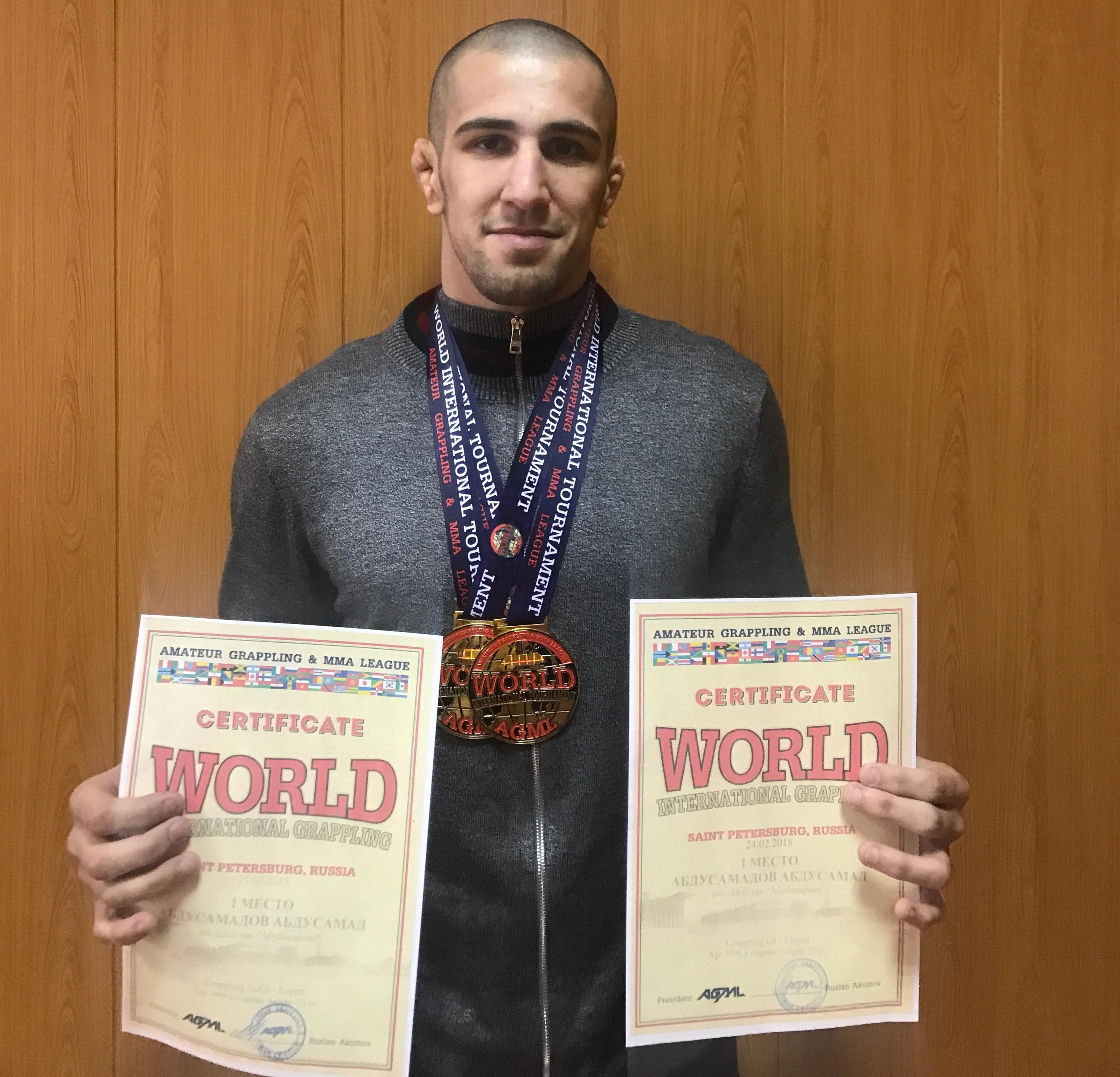 Дагестанский студент победил на международном турнире по грэпплингу