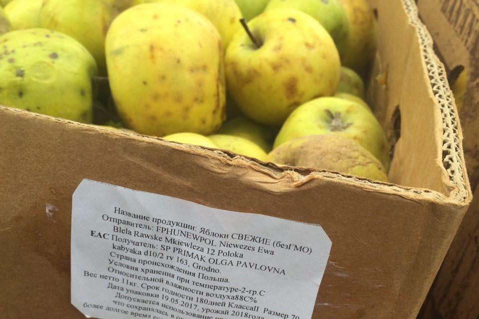 В Махачкале уничтожено более 130 кг польских яблок