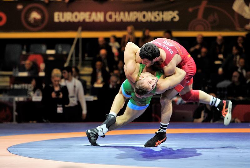 ЧЕ-2018. Греко-римская борьба. Полуфиналы и финалы 1 мая (фотогалерея)