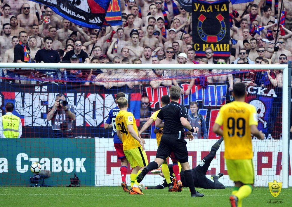 ЦСКА оштрафован за мат болельщиков на матче с «Анжи»