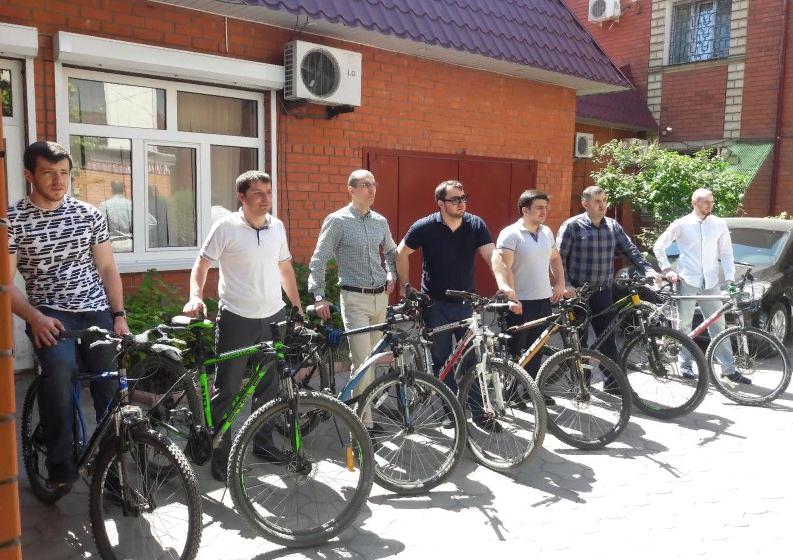 Дагестанские чиновники присоединились к акции «На работу на велосипеде»