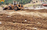 Мусорная свалка горит близ поселка Талги