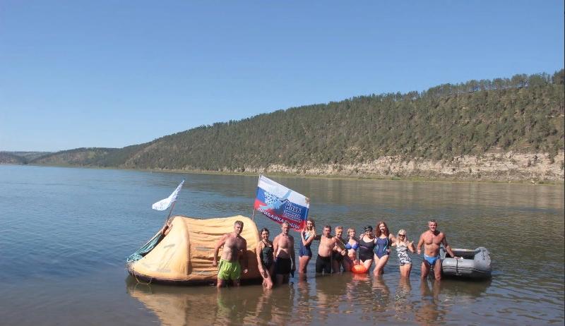 Дагестанский пловец принял участие в заплыве по Ангаре