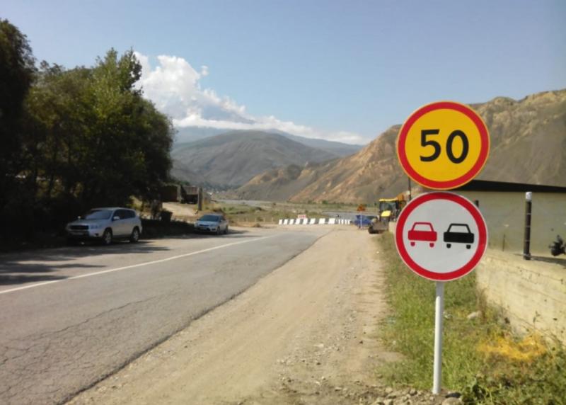 В Докузпаринском районе восстановлен разрушенный дождями участок автодороги