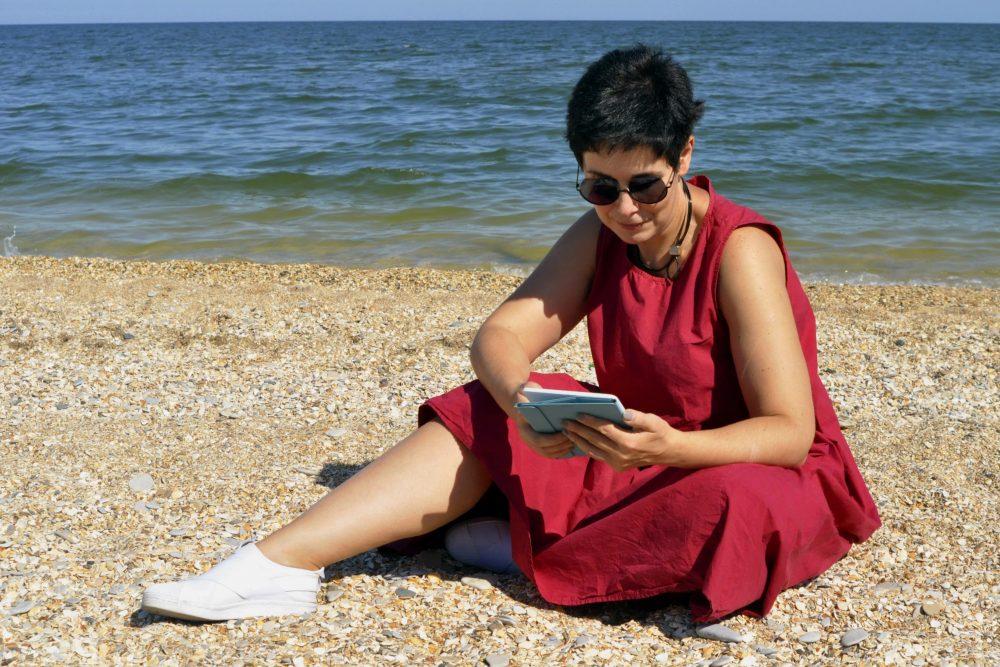 Юзефович на пляже