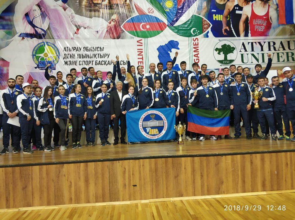 ДГУ завоевал 25 медалей на спортивных играх среди вузов прикаспийских стран